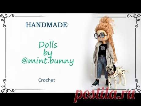 Авторские каркасные куклы крючком амигуруми от @mint.bunny
