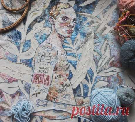Глядя на работы Лизы Смирновой трудно поверить, что они вышиты, а не нарисованы | MIAZAR | Яндекс Дзен