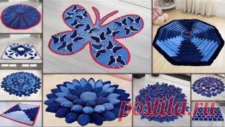 10 jeans Doormat Making || DIY Old Clothe || Doormat Handmade Things Ideas