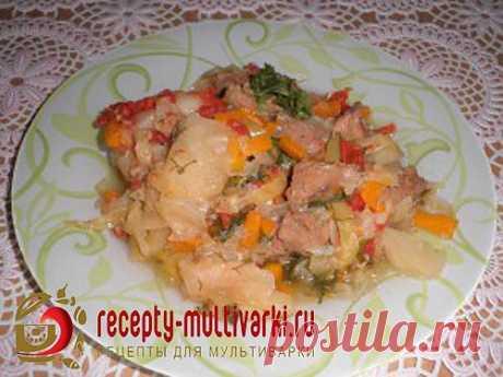 Рецепт мяса с овощами в мультиварке