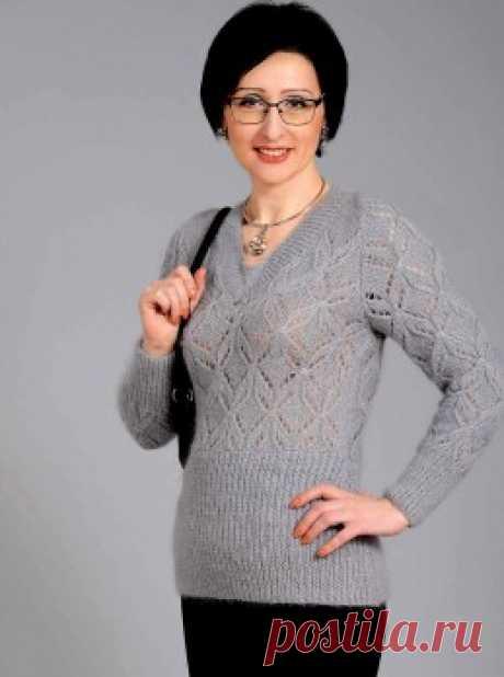 Вязание крючком и спицами - Ажурный пуловер