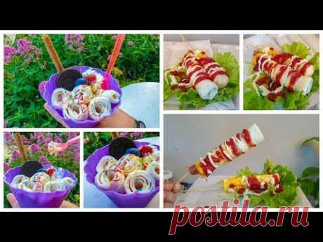 Уличная еда Золотые Пески Болгария! Уличный фастфуд. Street food egg roll