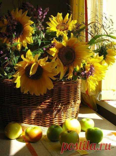 Осенний букет - он особого цвета... В нём краски и запах ушедшего лета. В нём-щедрость природы и нежность её.И в нём восхищенье твоё и моё!!!