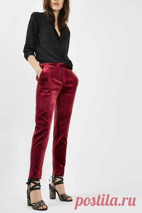 Look! Бархатные брюки в образах! — Модно / Nemodno