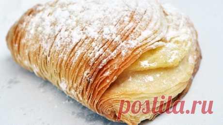 Неаполитанская кудрявая слойка Довольно необычный рецепт.