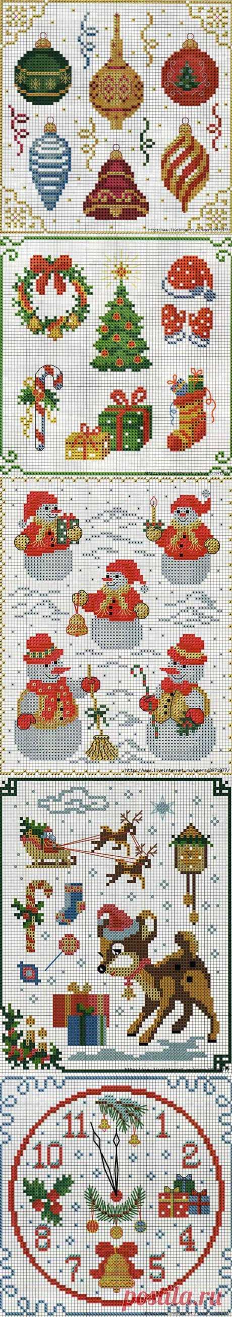 Волшебные палочки-вязание и вышивка - Статьи: Схемы вышивки новогодних игрушек
