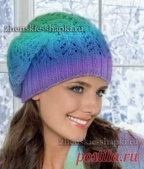 Вязание шапки бини спицами. Схемы и описание