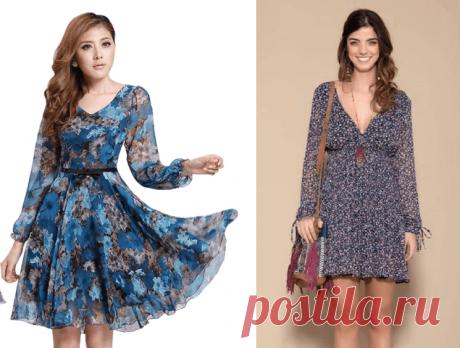Выкройка платья из шифона с длинным рукавом (Шитье и крой) – Журнал Вдохновение Рукодельницы