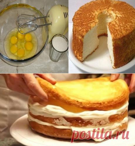 Вот как выпекают настоящий бисквит! Наконец-то нашла дельный рецепт...
