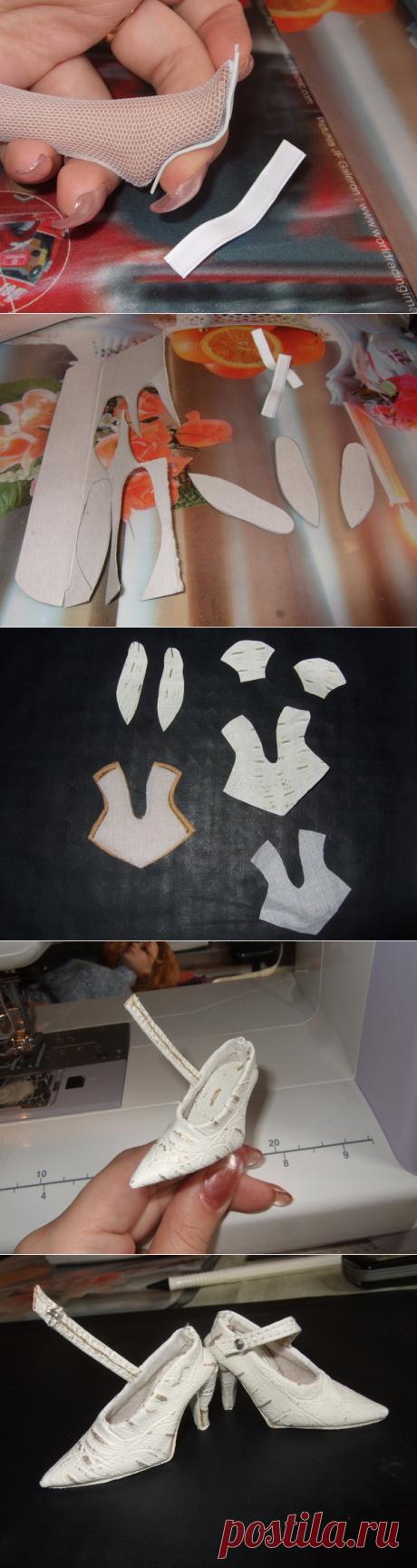 МК по кукольной туфельке с каблуком
