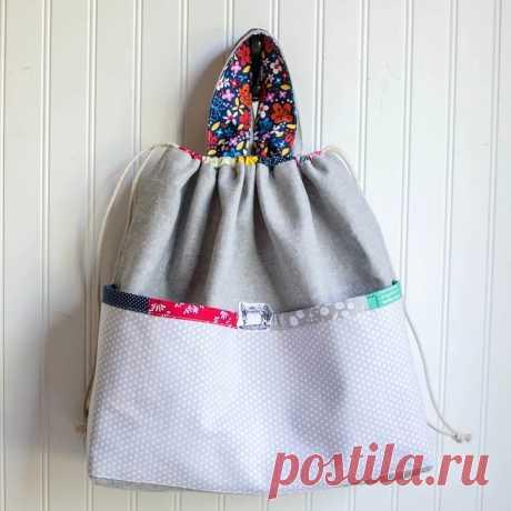 Двусторонняя сумка с карманом: мастер-класс — Мастер-классы на BurdaStyle.ru
