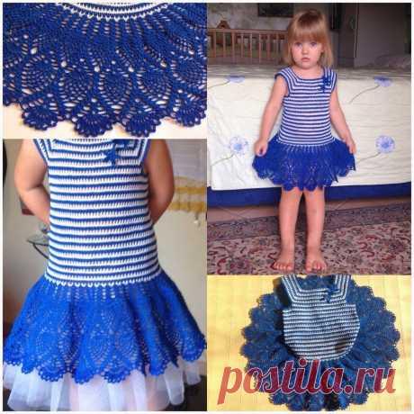 Детское платье крючом