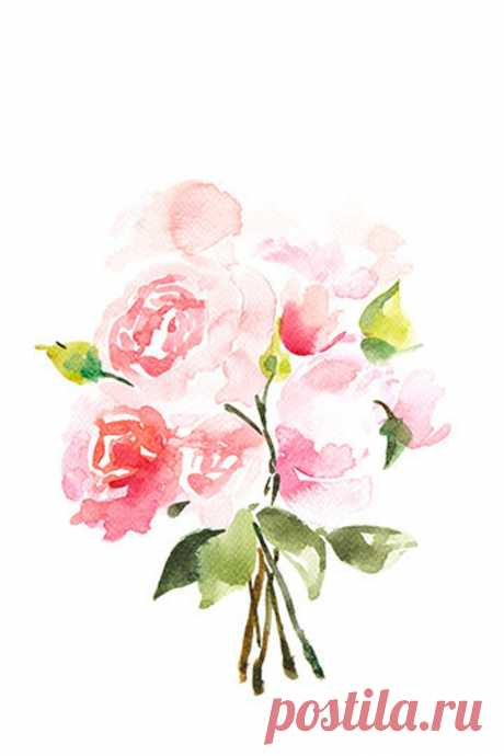 Peonies Watercolor painting Flowers Floral Print Printable   Etsy