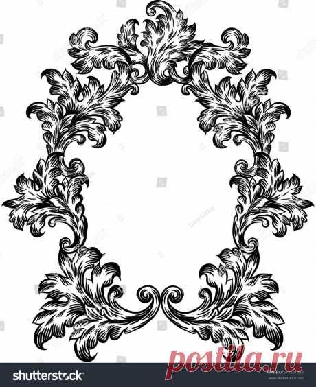 Стоковая векторная графика «Frame Vintage» (без лицензионных платежей), 677201050: Shutterstock