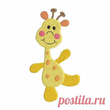 Cute Giraffe (S522-21) This cute little giraffe is a fill stitch machine embroidery design. 3 mini sizes are included with your purchase- all will fit a 4x4 inch hoop. Many popular machine formats.