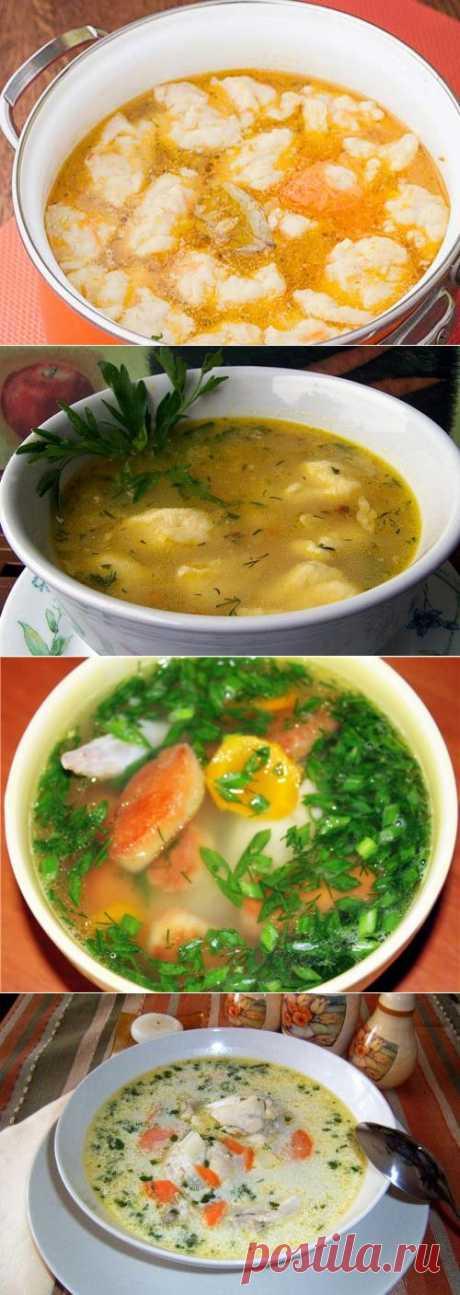 Chicken dumplings soups: main recipes \/ Simple recipes