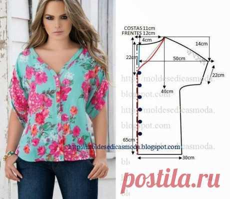 Летние блузки — легкий крой (Шитье и крой) | Журнал Вдохновение Рукодельницы