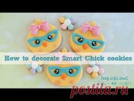 SMART CHICKS COOKIES! Learn how to decorate these adorable cookies