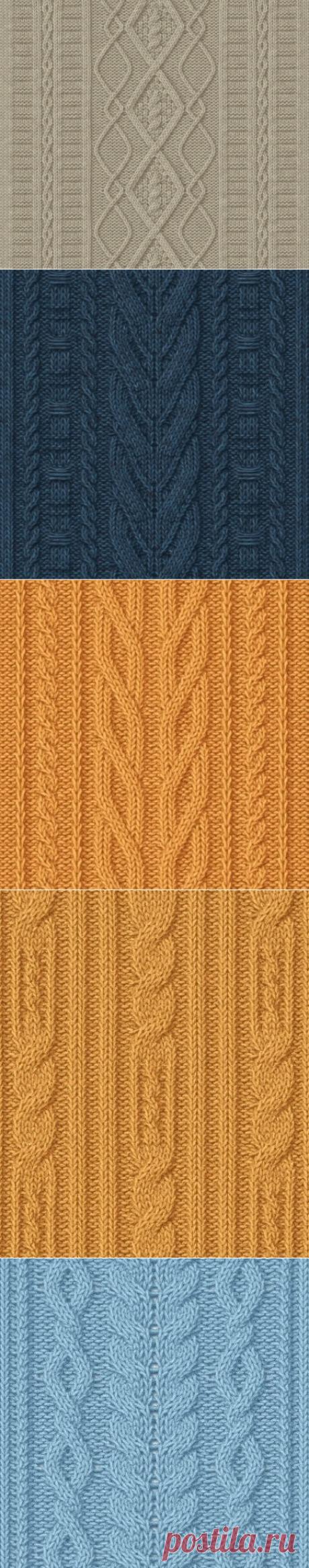 Узоры с косами (араны)