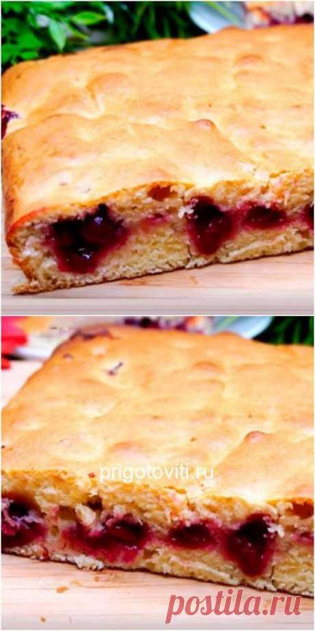 Невероятно быстрый пирог с ягодами за 7 минут - Все своими руками