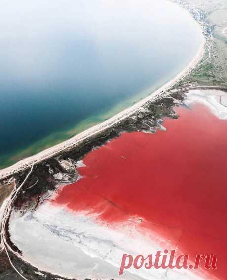 8 завораживающих фото розового Чокракского озера, которое находится в Крыму — Infodays