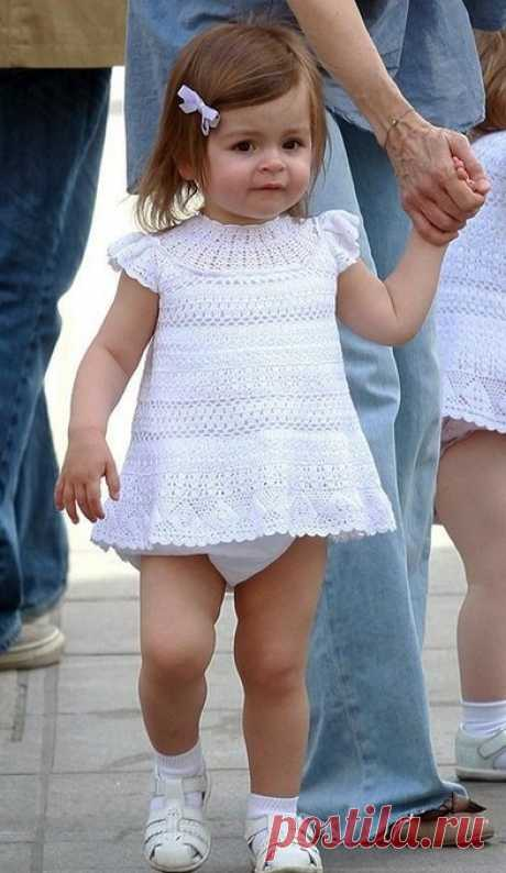 Крестильное платье для девочки на 1 год