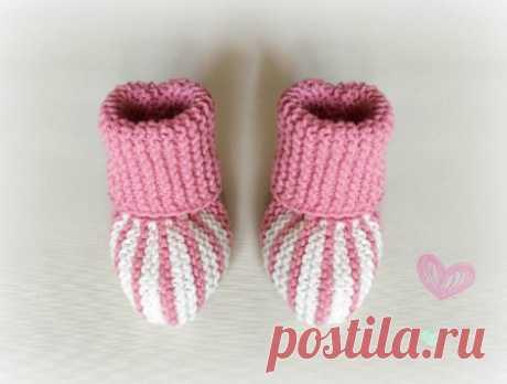 Вяжем теплые пинетки для малышки » «Хомяк55» - всё о вязании спицами и крючком