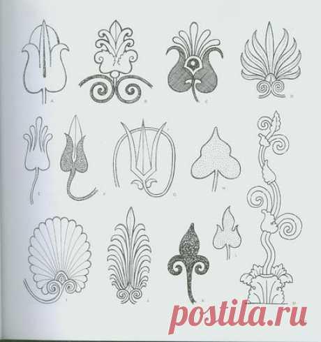 Узоры, цветочные мотивы, орнамент и шаблоны разных народностей.