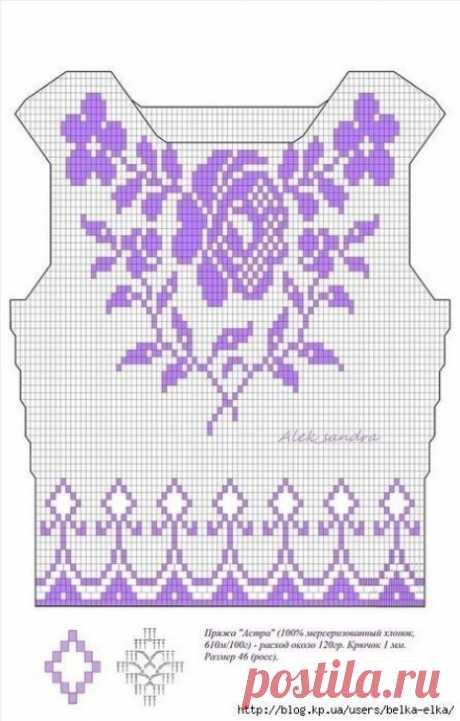 Схемы вязания женской одежды в филейной технике из категории Интересные идеи – Вязаные идеи, идеи для вязания