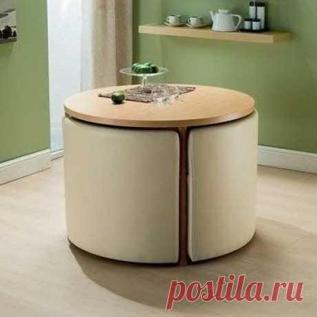 Идея для кухни: круглый раздвижной стол 🍏 / Живой лёд глобальных вопросов