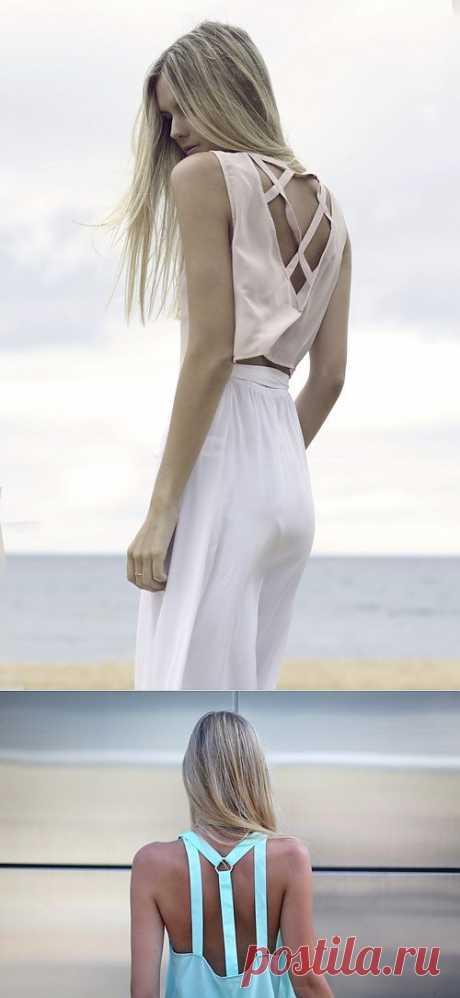Пара спинок с декором руликом / Декор спины / Модный сайт о стильной переделке одежды и интерьера