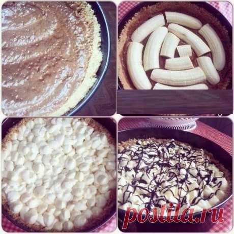 "Banoffee pie"" - настоящее банановое блаженство."
