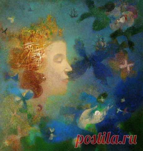 Любовь — напиток для души... Художник Elena Shlegel (Елена Шлегель)