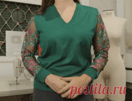 Поиск на Постиле: переделки свитеров
