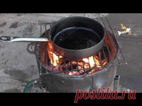 двух контурная печь из автомобильного диска