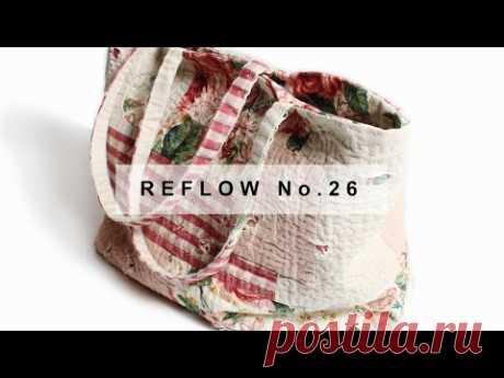 Большая сумка в стиле пэчворк с цветами