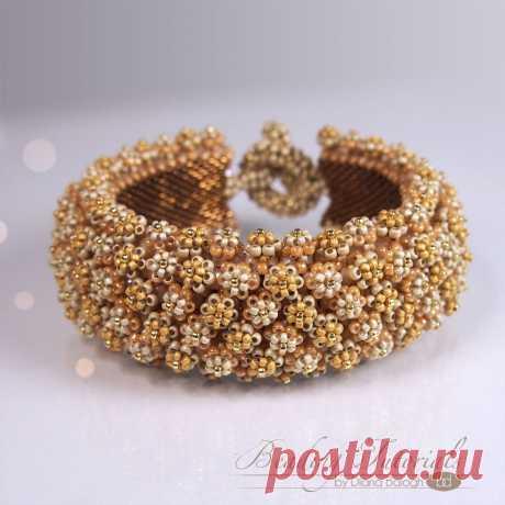 Tutorial Corona De Flore bracelet Flower bracelet beading | Etsy