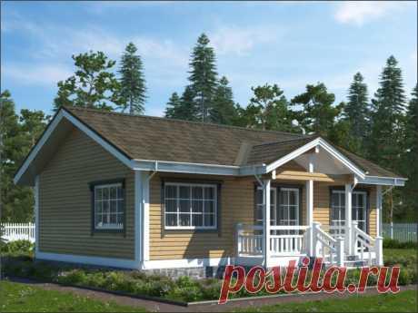 """Проект деревянного дома Бегония — Строительство домов из бруса от компании """"Кедр"""""""