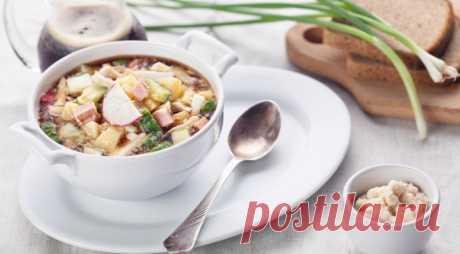 Идеальный суп для жаркого дня! Окрошка с хреном — Едим дома