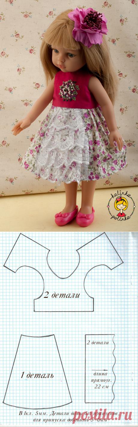 Выкройка платья для Паолок. Куклы Паола Рейна Paola Reina / Выкройки одежды для кукол-детей, мастер классы / Бэйбики. Куклы фото. Одежда для кукол
