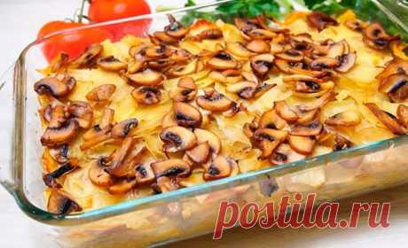 Томленный картофель в духовке со сливочным вкусом — весь секрет в нарезке, а ингредиенты самые обычные!