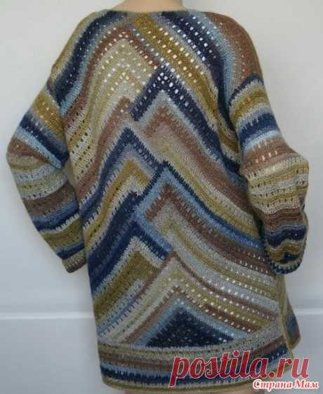 """Вяжем вместе пуловер """"Бермудский треугольник"""""""
