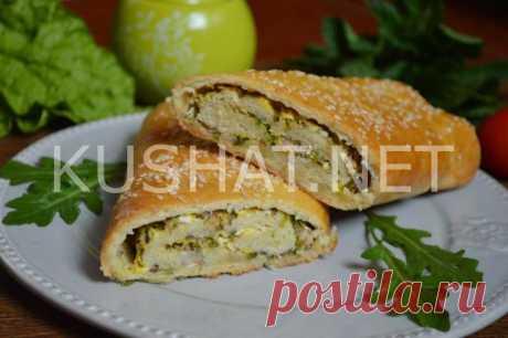 Пирог из слоеного теста с рыбными консервами. Пошаговый рецепт с фото • Кушать нет