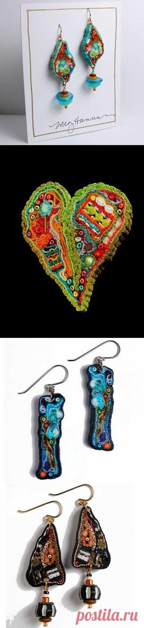 Уникальные украшения из ткани Мэг Ханнан / Украшения и бижутерия / Модный сайт о стильной переделке одежды и интерьера