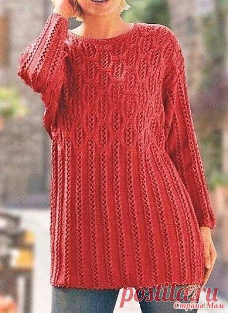 Пуловер (48-60 размеры). Спицы. - ВЯЗАНАЯ МОДА+ ДЛЯ НЕМОДЕЛЬНЫХ ДАМ - Страна Мам