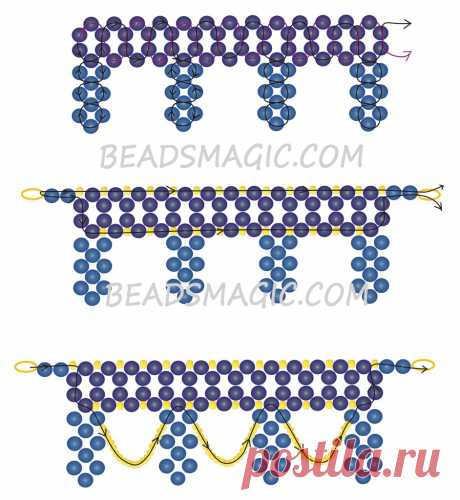 Free pattern for necklace Opera | Beads Magic