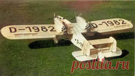Dornier Do P — опытный бомбер испытывавшийся в СССР Авиация Dornier Do P являлся очень большим самолетом для своего времени