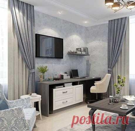 Нежная квартира в голубых оттенках создает эффект роскоши и богатства. | Все про дизайн и ремонт квартир | Яндекс Дзен