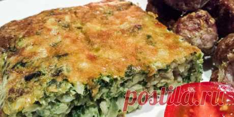 (+1) Rice baked pudding with cheese and spinach: Pastries: Cookery: Subscribe.Ru