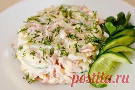 Как приготовить вкусный салат с ветчиной и сыром - рецепт, ингредиенты и фотографии